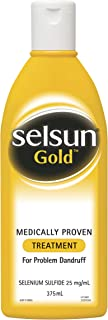 Selsun Gold Treatment Shampoo - Medically proven treatment for dandruff control - Reduces flaking, 375 ml