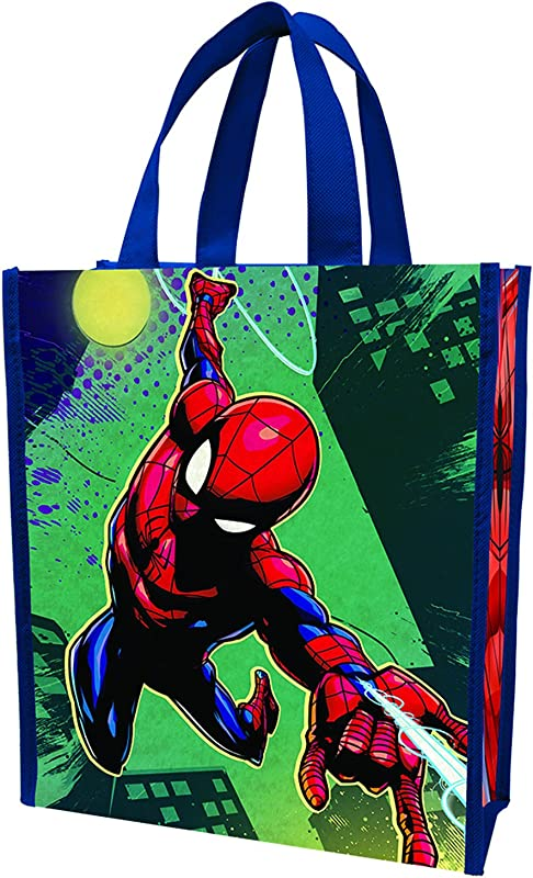 Vandor 26873 Marvel Spider Man Reusable Shopping Small Tote Bag With Handles