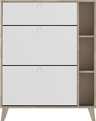 Movian Rance - Meuble à chaussures, 90x25x113,5cm, Blanc
