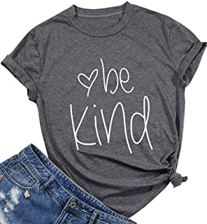 Be Kind T Shirt for Women Kindness Inspirational Short Sleeve Graphic Tee Christian Shirts Tops