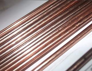 Soldador de gas con revestimiento de cobre de acero blando, 495 mm de largo,