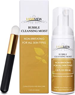 LASHVIEW Lash Shampoo with a Brush /50ml/Lash Cleanser for Extensions and Natural Lashes/Gentle Formula without Irritation...