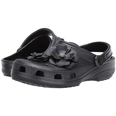 Crocs Classic Vivid Blooms Clog (Black) Clog/Mule Shoes