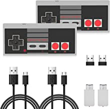 2 Pack NES Wireless Controller, AGPTEK NES Classic Controller Wireless for Nintendo Classic Mini Edition and PC,No-Wired G...