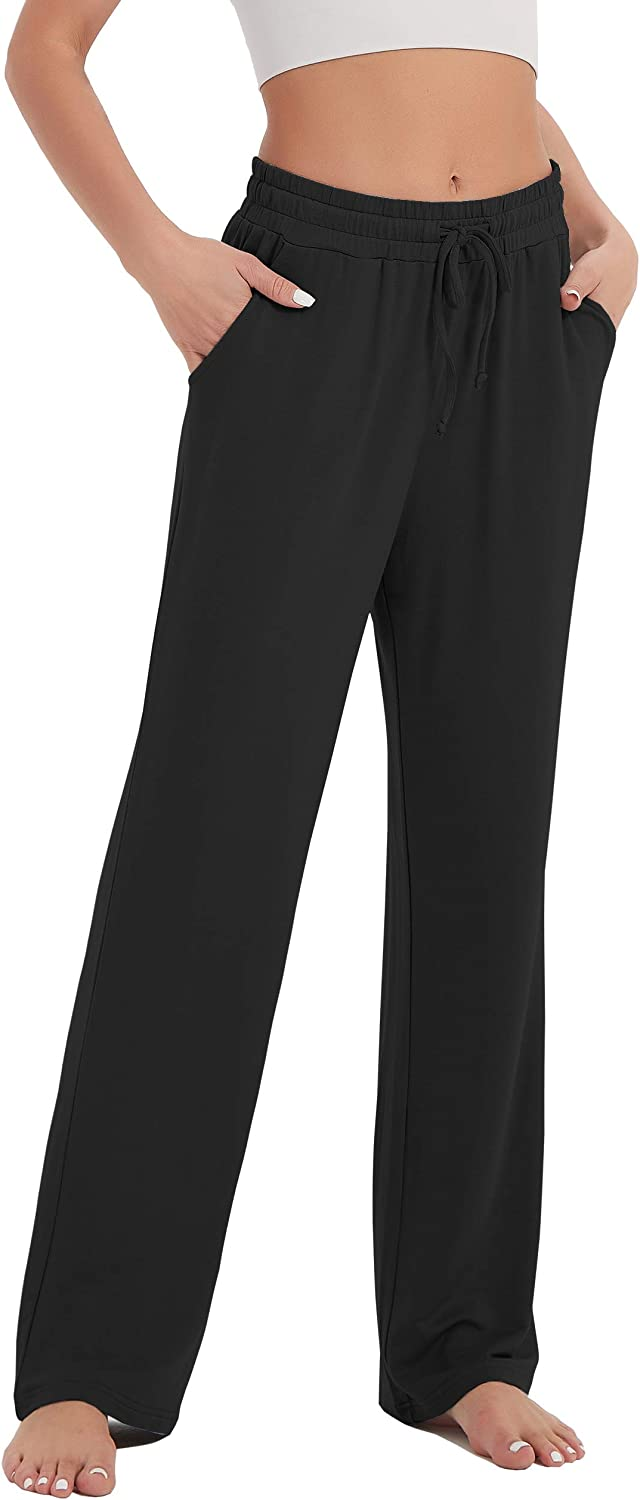 SPECIALMAGIC Womens Comfy Lounge Yoga Pants with Pockets Loose Fit Pajama Bottoms for Sleep Workout Wideleg Palazzo