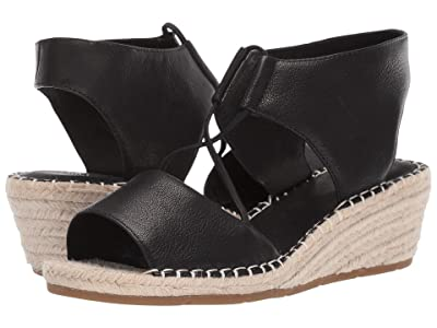 Eileen Fisher Agnes (Black Tumbled Leather) Women