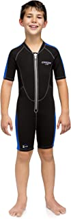 Cressi Short Kids, Boys & Girls, Front-Zip Neoprene Wetsuit for All Water Sports   Lido Junior