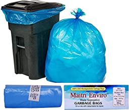 Maitri Enviro OXO Biodegradable Garbage Bags Roll Size 19-inch x 22-inches 6 Rolls (180 Bag Blue Colour)