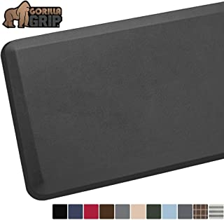 GORILLA GRIP Original Premium Anti-Fatigue Comfort Mat, Phthalate Free, Ships Flat, Ergonomically Engineered, Extra Support and Thick, Kitchen and Office Standing Desk, 32x20, Charcoal