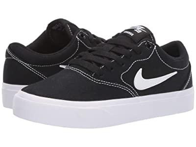 Nike Kids Charge Canvas (Big Kid) (Black/White) Boys Shoes