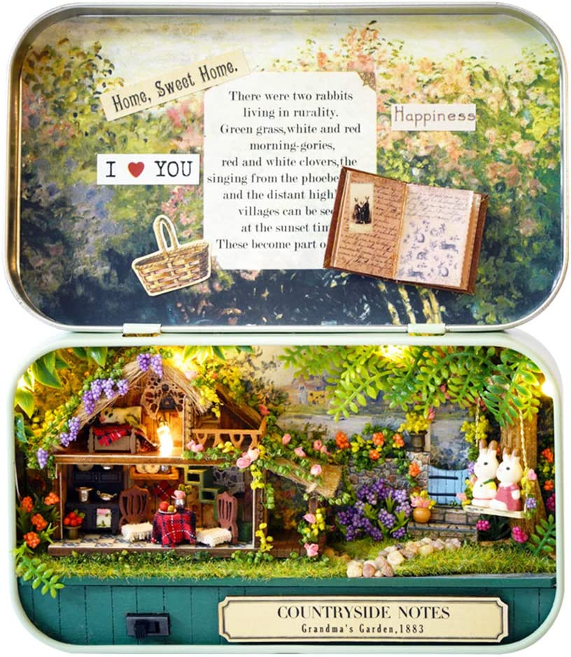 SPILAY DIY Miniature Low price Dollhouse Wooden Min Kit Furniture Arlington Mall Handmade