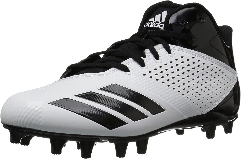 Adidas herrar 5.5 Star Mid Football Football Football skor, vit svart, 8.5 M USA  Kvalitetssäkring