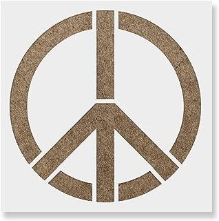 Best peace symbol stencil Reviews