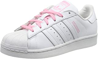 Youth Superstar J Leather White Light Pink Trainers 5 US