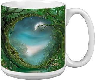 Day/Night Moon Extra Large Mug, 20-Ounce Jumbo Ceramic Coffee Mug Cup, Fantasy Themed Art - Gift for Coffee Lovers (XM2949...