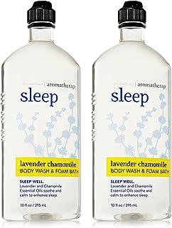 Bath & Body Works Aromatherapy Sleep Lavender &  Chamomile Body Wash & Foam Bath - 2 Pack
