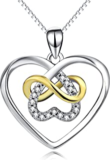 Women Jewelry 925 Sterling Silver Platinum Polished Eternal Celtic Knot Cross Pendant Necklace 18