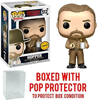 Stranger Things Hopper with Donut Pop! Vinyl Figure Chase Variant and (Bundled with Pop BOX PROTECTOR CASE)