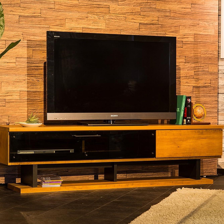 願望関税王子木製 テレビボード 160cm テレビ台 AV収納 ブラウン