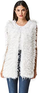 Women's Fluffy Soft Faux Fur Vest Autumn and Winter Warm Fashion Outwear Coat Jacket