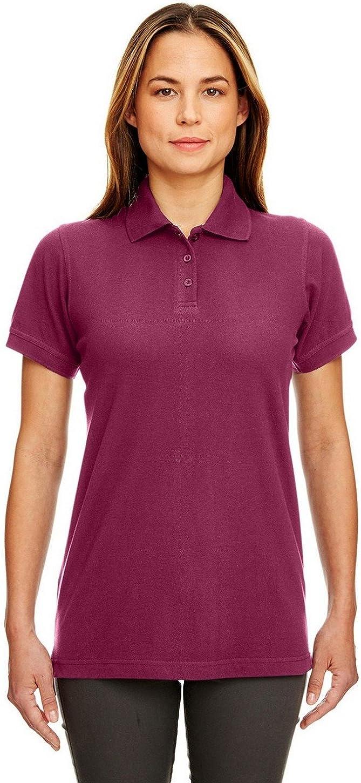 UltraClub 8530 Ladies Classic S-Sleeve Pique Polo Burgundy X-Small