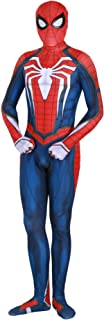 Spiderman ps4 Costume Advanced Suit Unisex Lycra Spandex Bodysuit Halloween Cosplay Costumes Adult Kids 3D Style