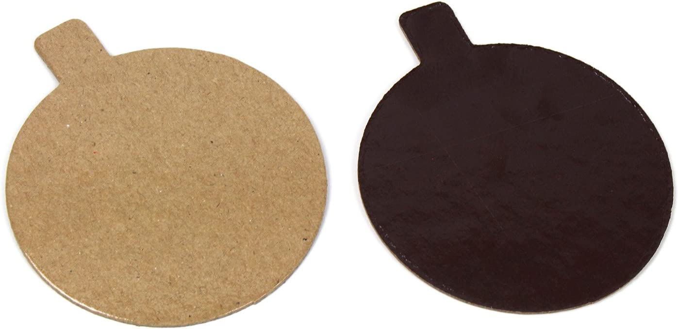 Round Pastry Board with Tab 2021 spring and summer new Chocolate 8 Inch D Max 85% OFF Praline 3-1