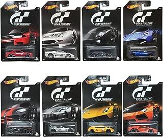 Hot Wheels 2016 Gran Turismo Bundle Set of 8 Die-Cast Vehicles, 1:64 Scale