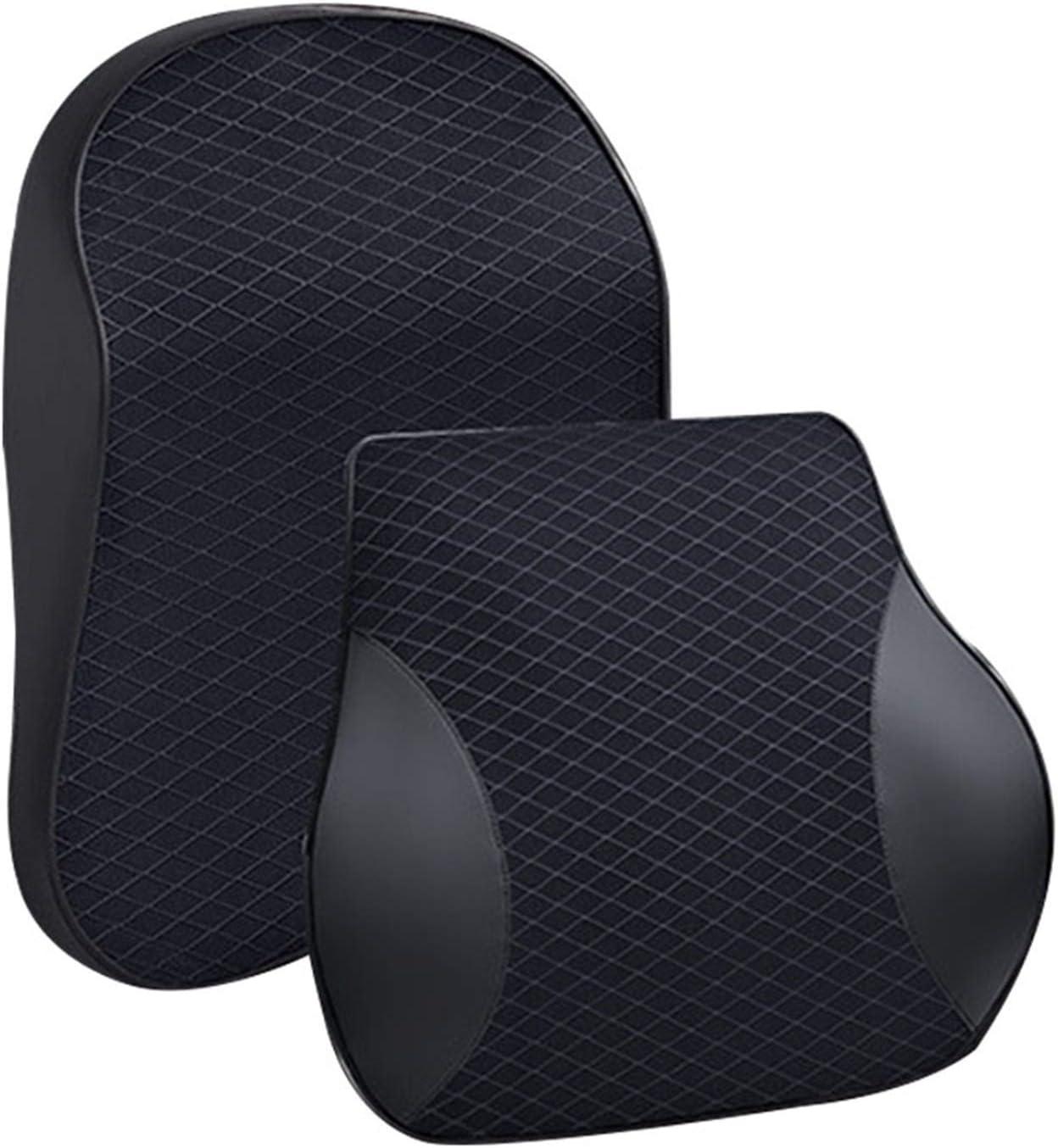 Xiaolili New life 3D Memory Foam Car Rare Neck Pillow Wa Leather PU