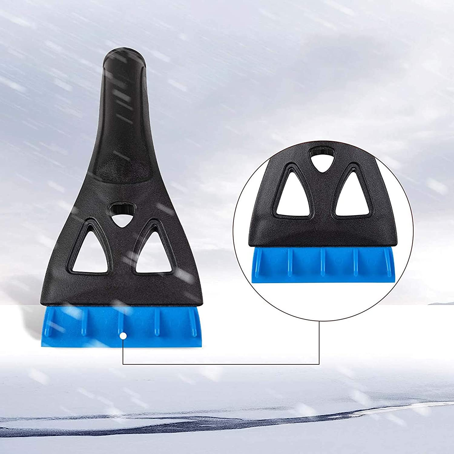 Ice Scraper for Car Windshield Extendable Snow Brush Remover with Foam Grip for Car Auto SUV Truck Windows Blue Snow Brush for Car