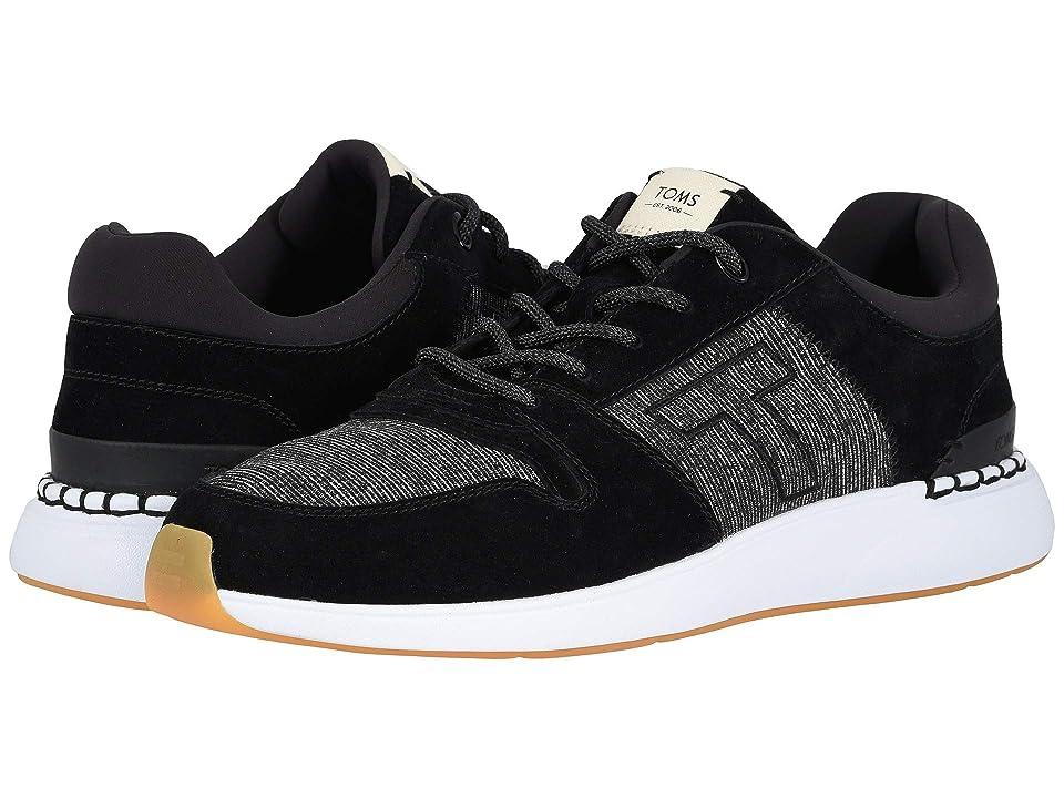 8e12740d24e TOMS Arroyo (Black Pig Suede Mini Jersey Stripe Mix) Men s Lace up casual  Shoes