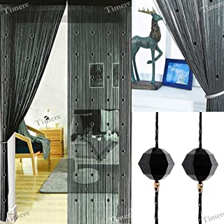 Best black beaded curtains Reviews