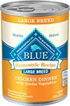 Blue Buffalo Homestyle Recipe Natural Adult Large Breed Wet Dog Food, Chicken 12.5-oz can..