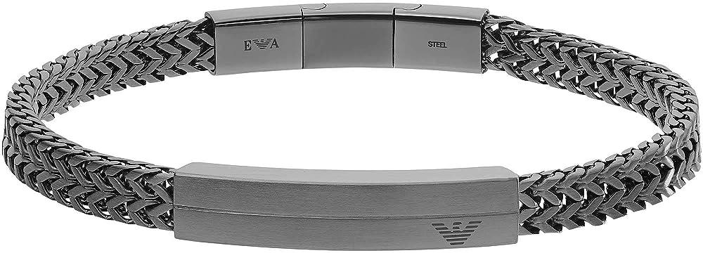 Emporio armani, braccialetto da uomo, in acciaio inossidabile EGS2684060