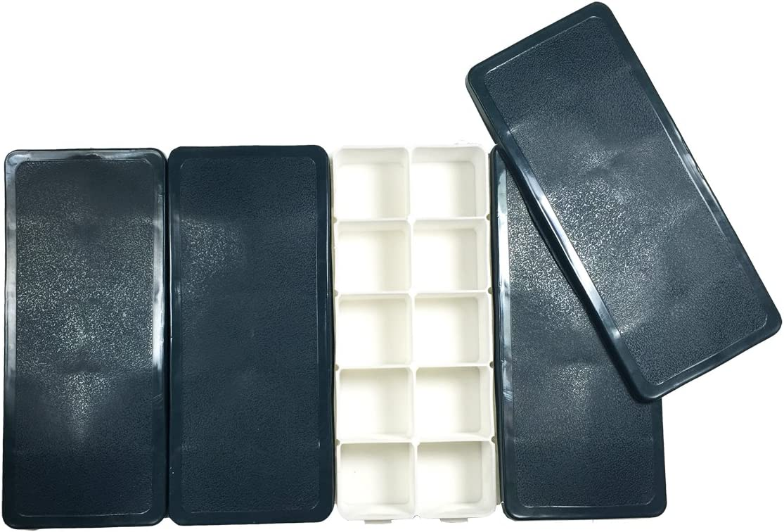 mart 4-Pack 10-Well Lightweight Seattle Mall Plastic Palette f with Soft Cover Box