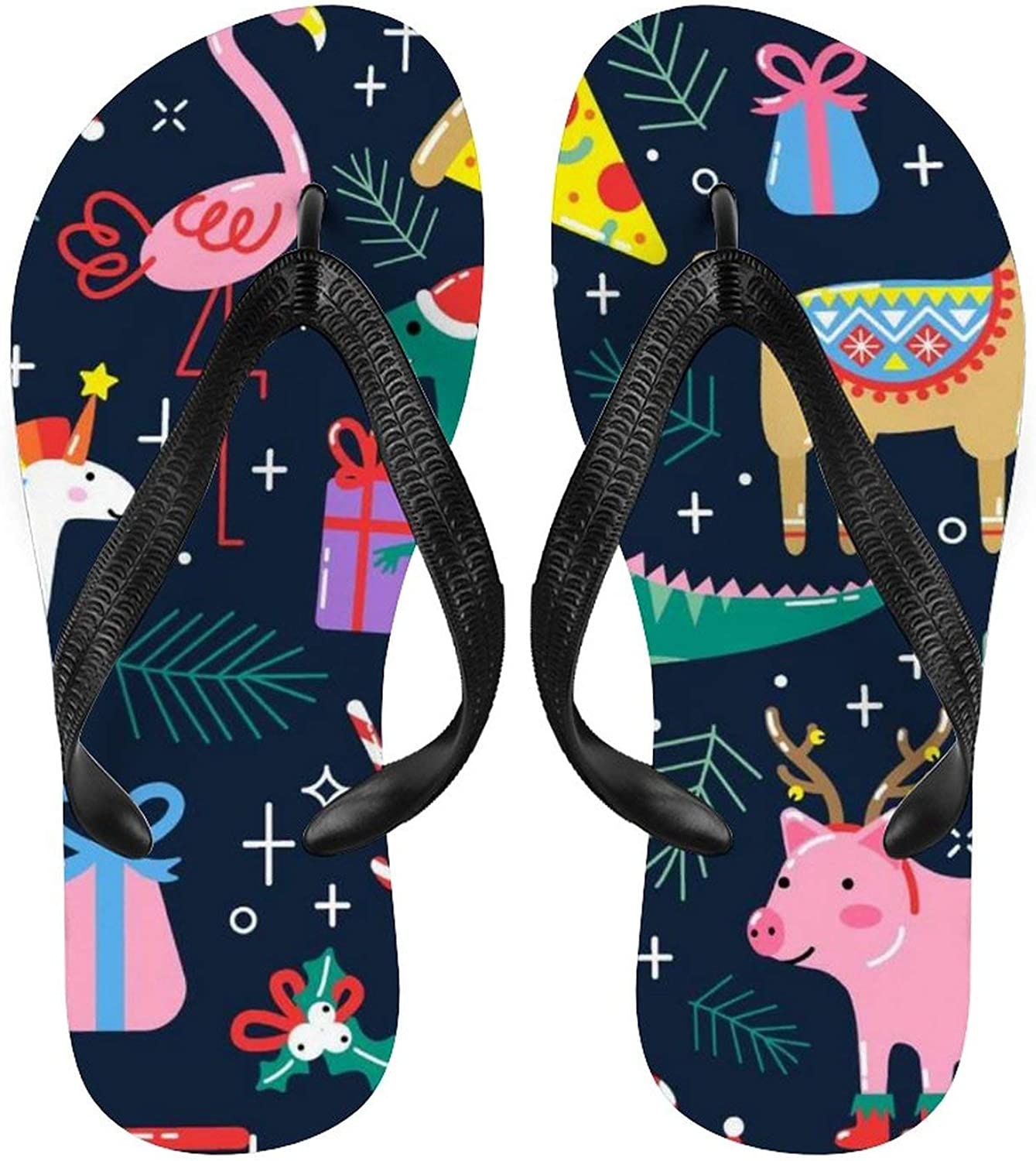Women Flip Flop Funny Flamingo Ranking TOP6 Pig Mat Sales of SALE items from new works Dinosaur Comf Sandal Yoga
