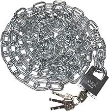 WXYZ Keyed Padlocks Fietskettingslot, heavy-duty staalbeveiliging Anti-diefstal slot, kettinglengte 0.5m, 0.8m, 1m, 1,5m, ...