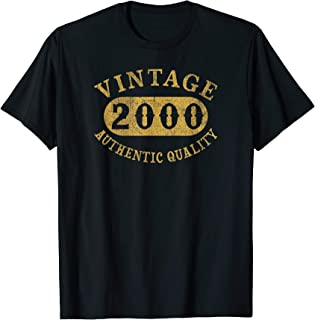 19 years old 19th B-day Birthday Gift Vintage 2000 T-Shirt