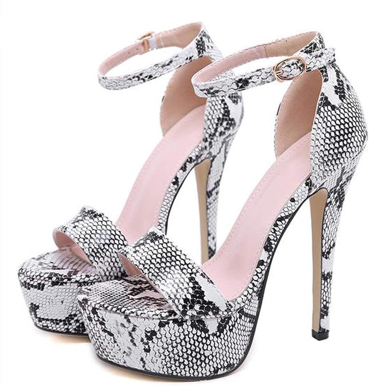 Serpentine Platform High Heels Sandals Summer Ankle Strap Open Toe Gladiator Party Dress Size 4-9