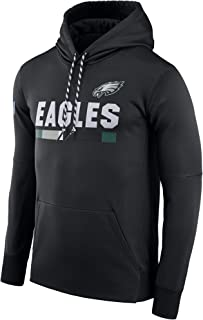 VF LSG Men's Philadelphia Eagles Black Sideline ThermaFit Performance PO Hoodie