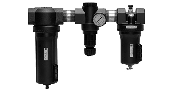 psi Metal Bowls 1000 40 /µm Polyethylene Filter Gauge Threaded Ports 1-1//4 NPT 0-14 0-100 0-200 35 Ross Controls C5H00C7212 High-Capacity Series Filter Regulator Plus Lubricator 0-6.9