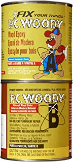 PC Products PC-Woody Wood Repair Epoxy Paste, Two-Part 96oz in Two Cans, Tan 128336