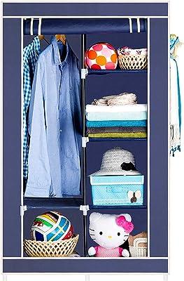 BUCKETLIST® Portable Foldable Clothes Closet Wardrobe Non-Woven Fabric Multipurpose Storage Organizer Cupboard