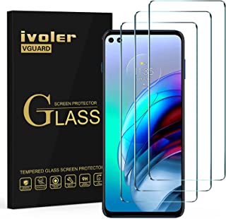 ivoler 3-pack skärmskydd för Motorola Moto G 5G Plus/Motorola Moto G100, härdat glasfilm [9H hårdhet] [Anti-repa] [bubbelf...