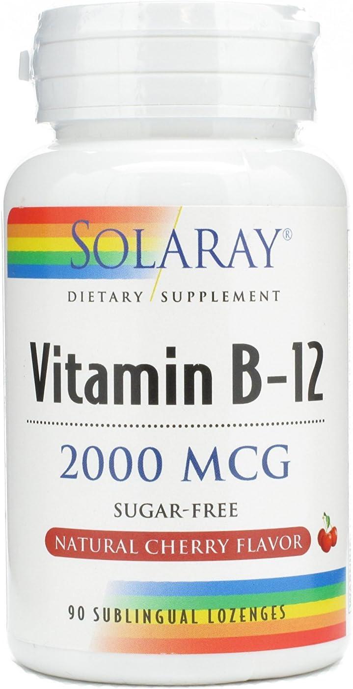 Solaray Vitamin B Opening overseas large release sale 12 90 2000mcg Lozenges