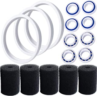 Pool Cleaner Replacements for Polaris 180, 280, C60, C-60, Including 8 Pcs C60 Wheel Ball Bearings, 3 Pcs Tire for Polaris...