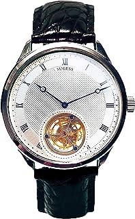 Sugess - Reloj mecánico para hombre con esfera de Microhyla Tourbillon Master Seagull ST8230 Movimiento de zafiro Cristal 1963 SU8230G