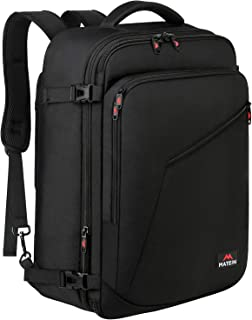 Matein Carry on Backpack, Extra Large Travel Backpack Expandable Flight Approved Weekender Bag for Men & Women, Water Resistant Lightweight Daypack for Airplane 40L, Black