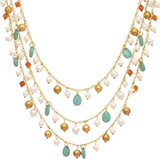 DCA Women's Multi-Strand Glass and Metal Necklace (4413-14)