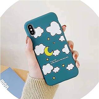 for iphoneののXマックスXrをのX Xのためのかわいいクラウドレター電話ケースfor iphone X、青6つの6S 7 8プラス、